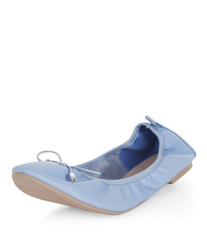 ce2381a5643 Wide Fit Pale Blue Elasticated Ballet Pumps Add to Saved Items Remove from  Saved Items