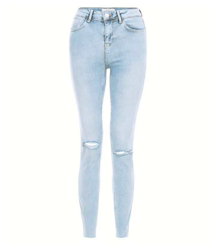 innovative design buy online great prices Light Blue Acid Wash Ripped Knee Skinny Jeans Add to Saved Items Remove  from Saved Items