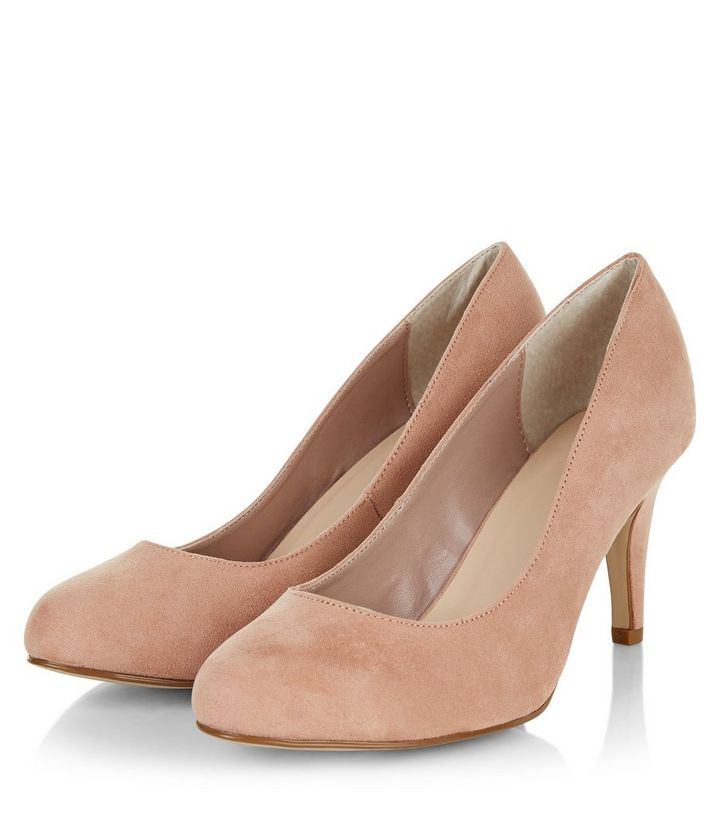 cdd97397a3f0 ... Wide Fit Stone Suedette Mid Heels. ×. ×. ×. VIDEO Shop the look