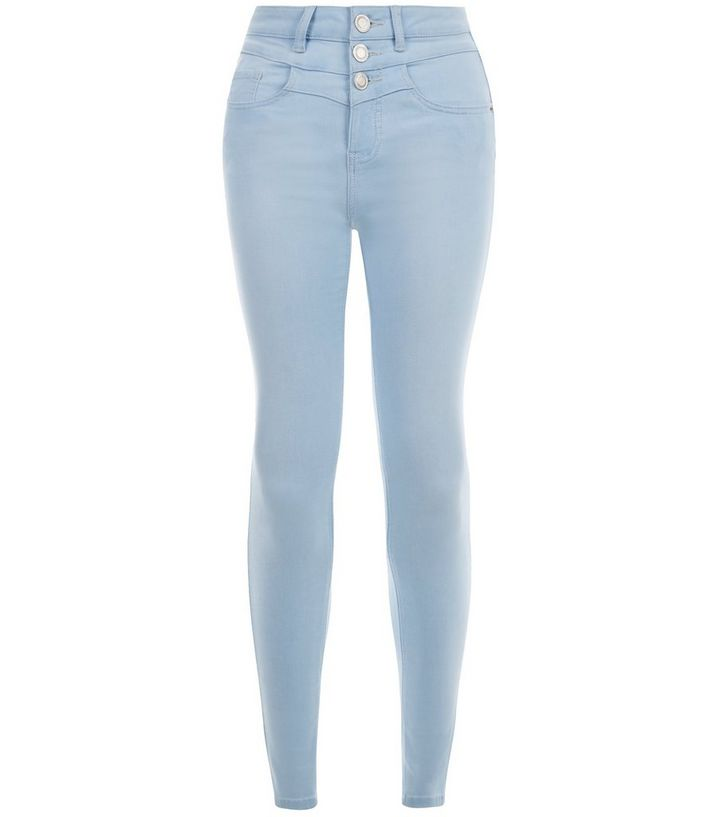 meilleure sélection c7ff4 5fced Jean skinny Ado bleu pâle taille haute Ajouter à la Wishlist Supprimer de  la Wishlist
