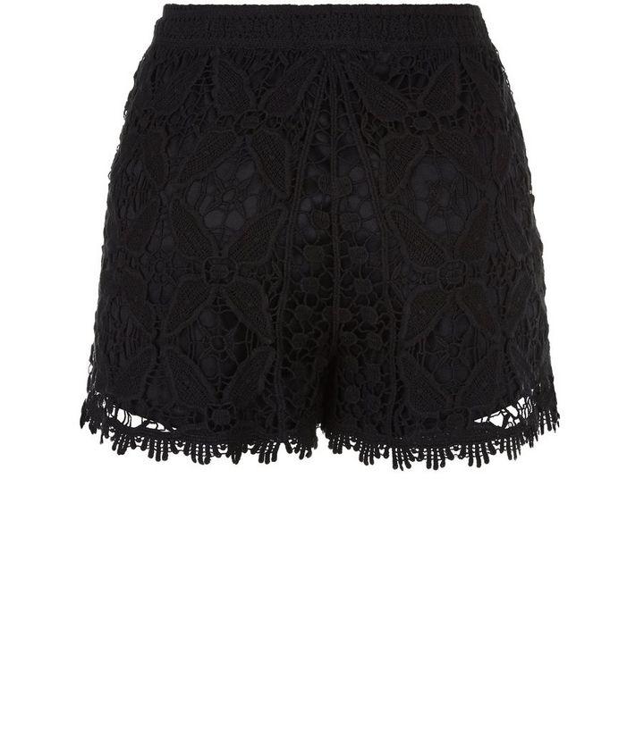 Teens Black Crochet Shorts New Look