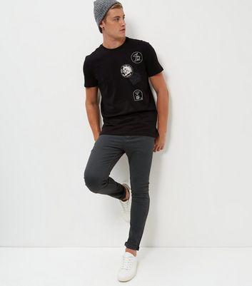 Dark Grey Skinny Trousers New Look