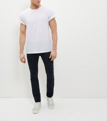 Navy Skinny Trousers New Look