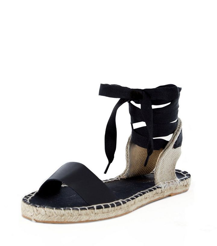 beabd4a6bce Black Canvas Ankle Tie Espadrilles Add to Saved Items Remove from Saved  Items