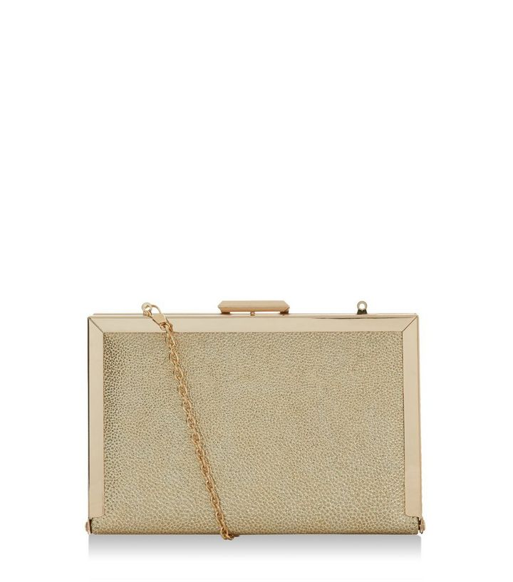 choose original yet not vulgar promo codes Gold Metallic Box Clutch Add to Saved Items Remove from Saved Items