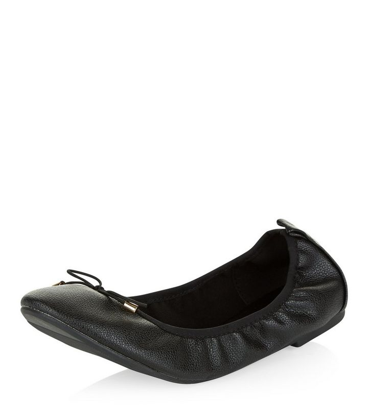 select for latest soft and light finest fabrics Wide Fit Black Elasticated Ballet Pumps Add to Saved Items Remove from  Saved Items