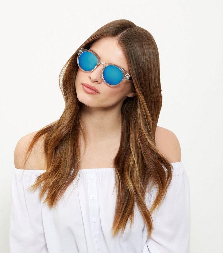 238f0678da4d Clear Mirrored Sunglasses