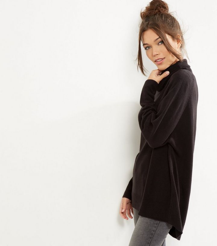first look many styles save up to 80% Black Oversized Cowl Neck Long Sleeve Jumper Add to Saved Items Remove from  Saved Items