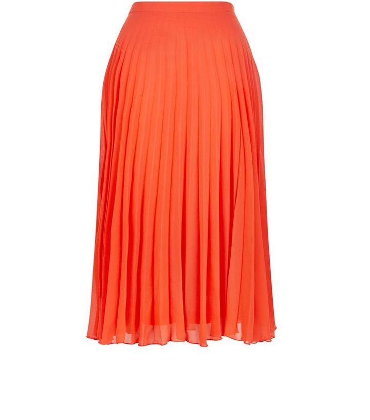 7a9b12cf013 Red Pleated Midi Skirt