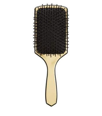 Gold Princess Hair Paddle Brush New Look