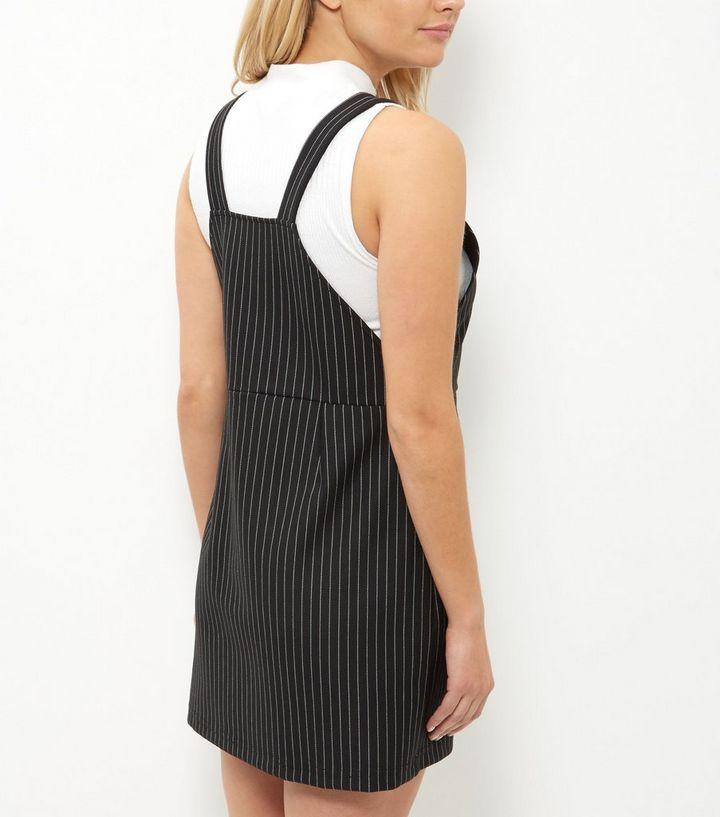 08dab1d594f ... Petite Black Pinstripe Pinafore Dress. ×. ×. ×. Shopper le look