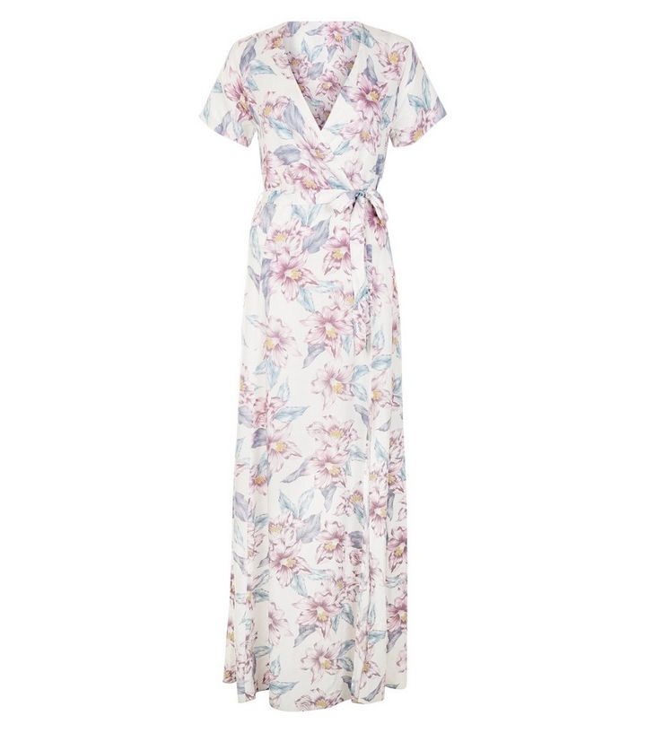 61f7643222a7 ... White Floral Print Tie Waist Maxi Dress. ×. ×. ×. Shop the look