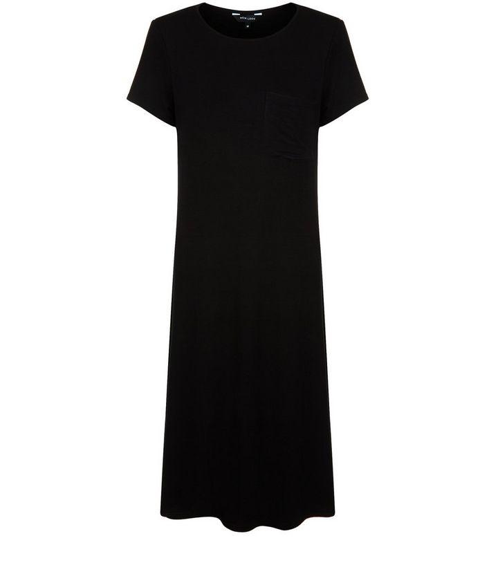 b1f24a2e0bf1 Black Longline T-Shirt Dress