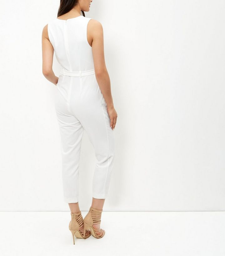 1945357367be ... White Square Neck Tie Waist Jumpsuit. ×. ×. ×. Shop the look