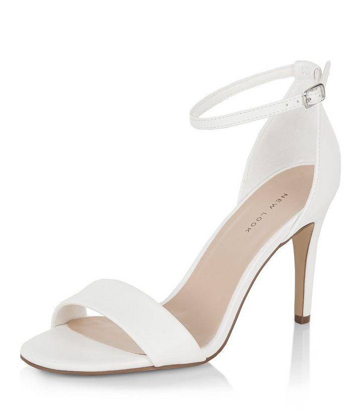 d45fb1ce04e White Square Toe Heeled Sandals