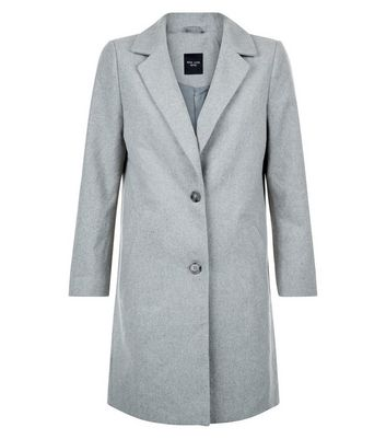Petite Grey Longline Coat Add to Saved Items Remove from Saved Items