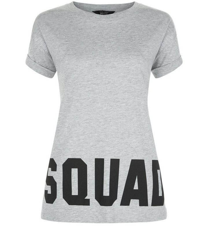 c7dd9b01c Teens Grey Squad Goals Print T-Shirt | New Look
