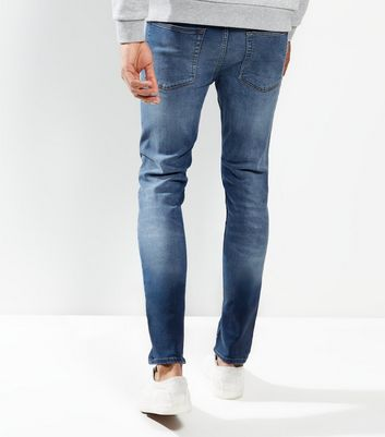 Bright Blue Washed Skinny Jeans New Look