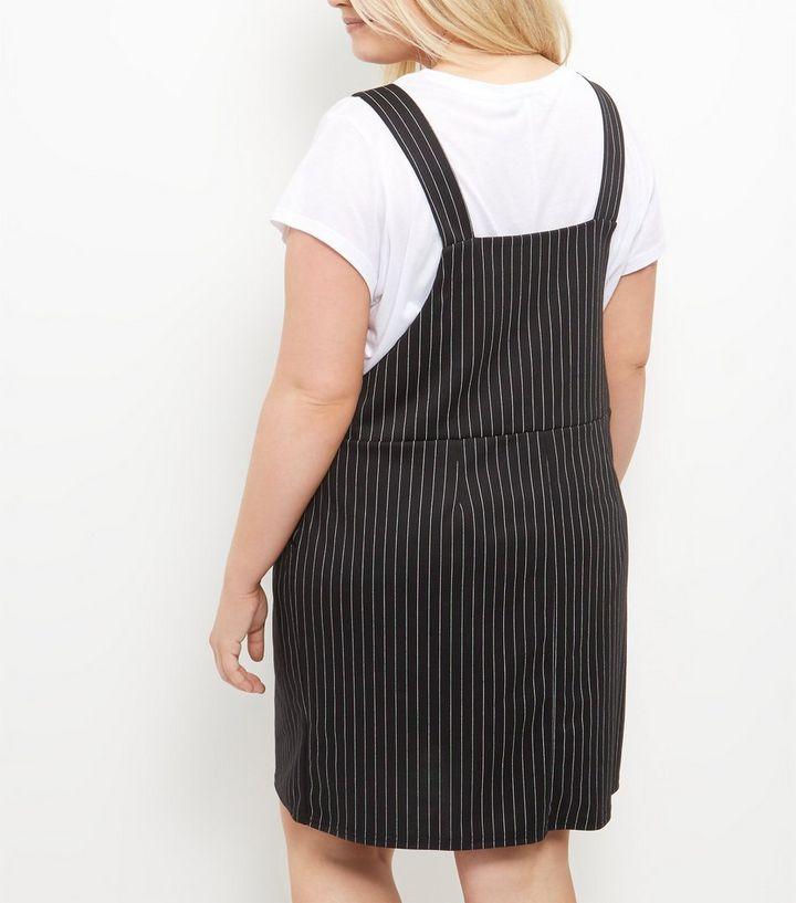2cc71acc23f Home · Curves Black Pinstripe Pinafore Dress. ×. ×. ×. Shop the look
