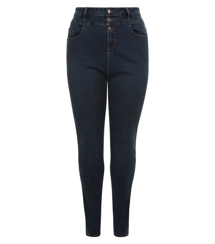 326d0678e28 Curves Blue High Waist Skinny Jeans