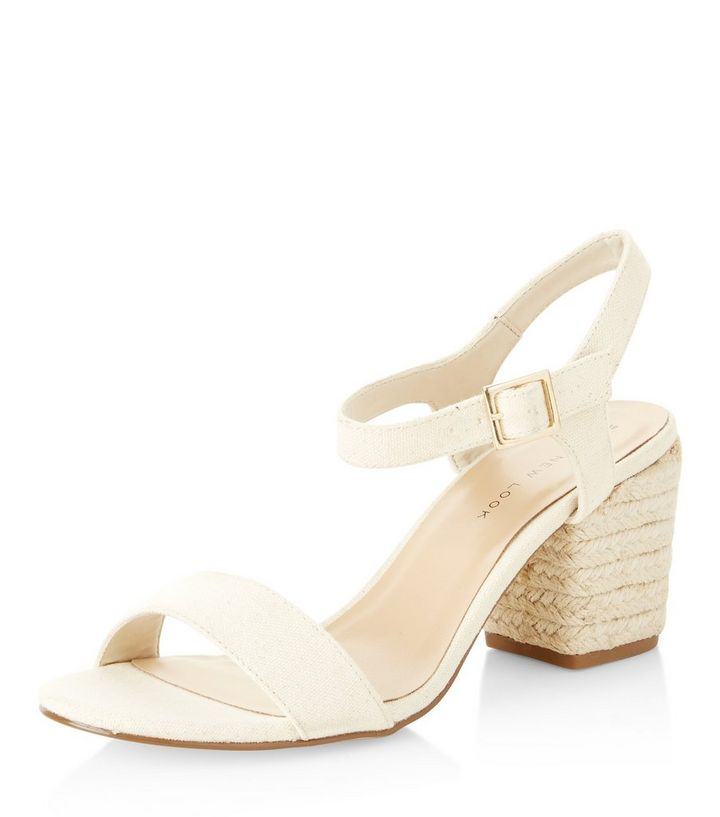 7ab8d19140f Wide Fit Cream Suedette Espadrille Heeled Sandals Add to Saved Items Remove  from Saved Items