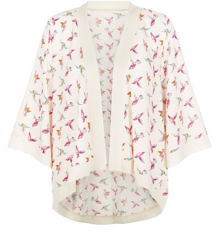 8336e884502e4 Mela Cream Bird Print Kimono | New Look