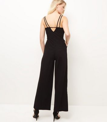 Mela Black Belted Jumpsuit New Look