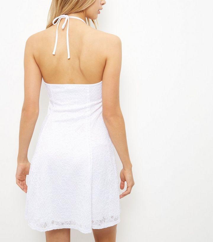 ... White Flounce Lace Halter Neck Skater Dress. ×. ×. ×. Shop the look 259f9e7c5
