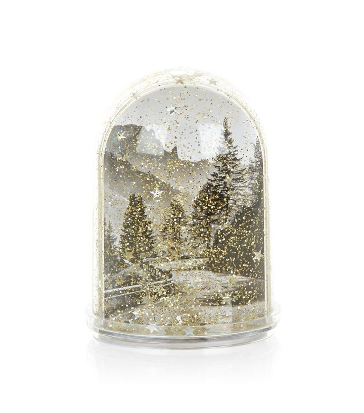 Gold Snowglobe Shake It Frame | New Look