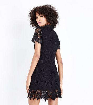AX Paris Black Lace Funnel Neck Dress New Look
