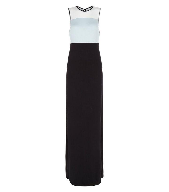 3ea3a7eef02a Black Colour Block Maxi Dress