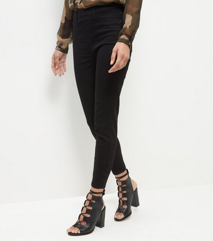 6e4fcd5d8efb6 Tall Black Jeggings | New Look
