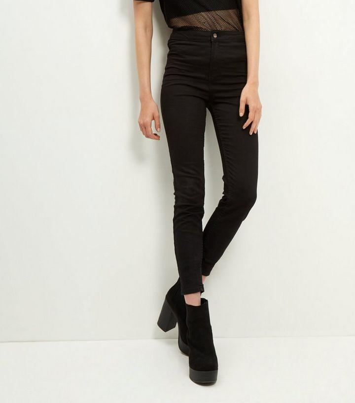 52713fff225b Jean super skinny noir taille haute