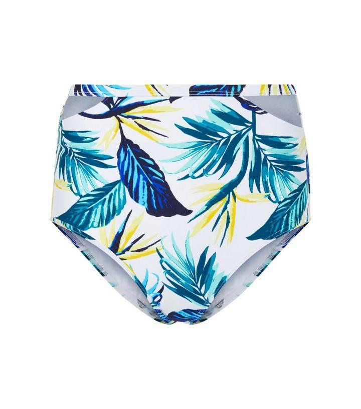 d56032486854b Yellow Tropical Print High Waist Bikini Bottoms | New Look