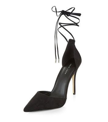 tie ankle heels
