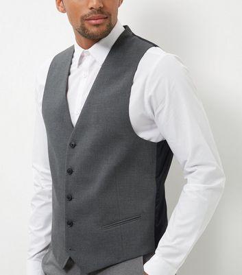 Grey Slim Fit Suit Waistcoat New Look