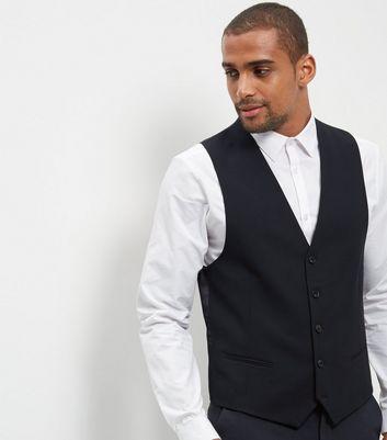 Blue Suit Waistcoat New Look