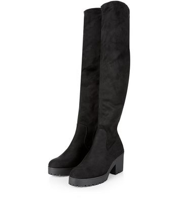 New Look wide fit over the knee boot in