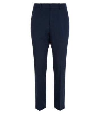 Blue Regular Suit Trousers New Look