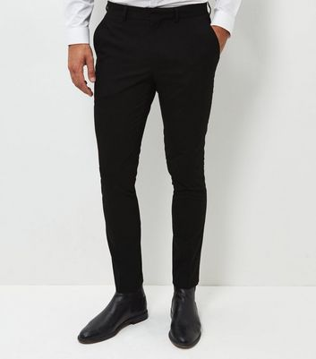 Black Skinny Suit Trousers New Look