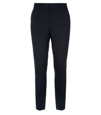 Blue Skinny Suit Trousers New Look