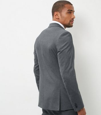 Grey Slim Fit Suit Jacket New Look