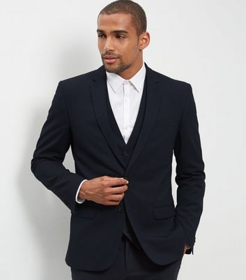 Blue Slim Fit Suit Jacket New Look