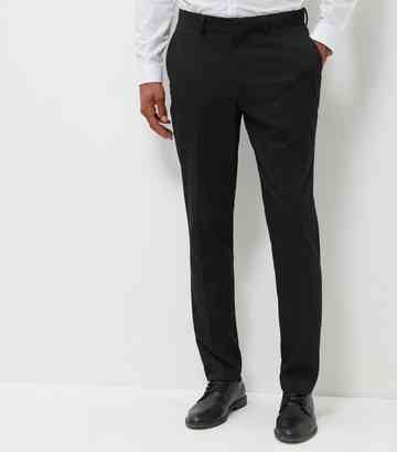 Pantalon de costume noir coupe slim