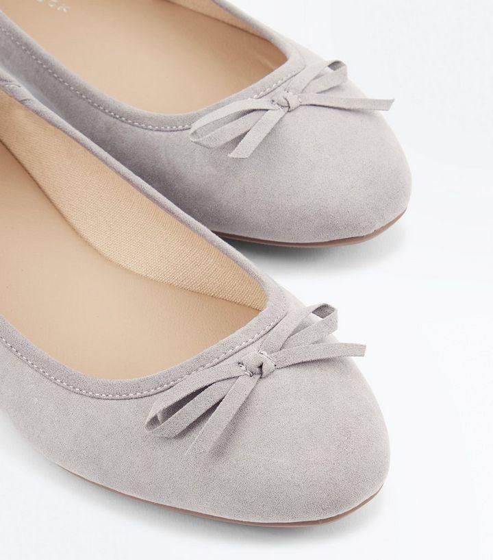 62e93825a728 ... Shoes · Wide Fit Grey Suedette Ballet Pumps. ×. ×. ×. Shop the look