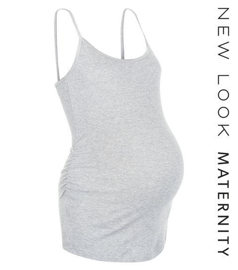 00e941b0791618 Maternity Grey Strappy Vest · Maternity Grey Strappy Vest ...