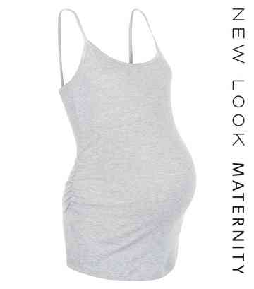 Maternity Grey Strappy Vest