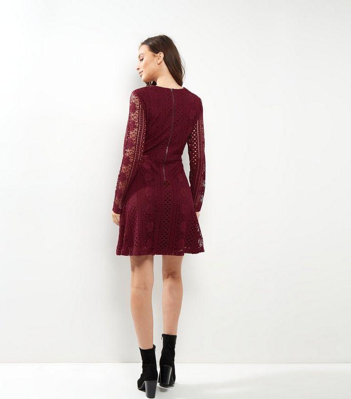 f02dcfacef02 ... Burgundy Lace Long Sleeve Skater Dress. ×. ×. ×. Shop the look