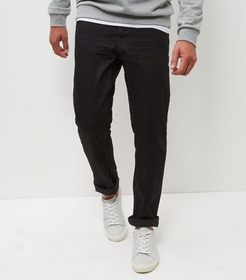 Black Straight Leg Jeans New Look