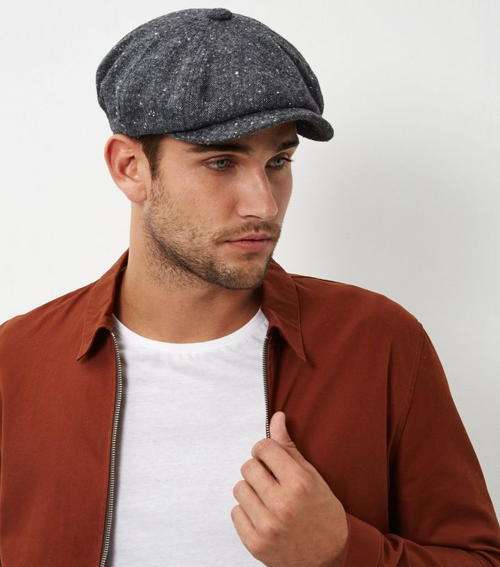 Grey Baker Boy Hat  f9a65d7ebf8